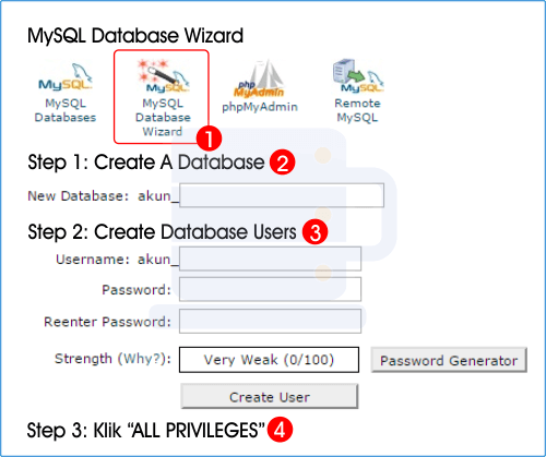 Membuat database mysql di cpanel