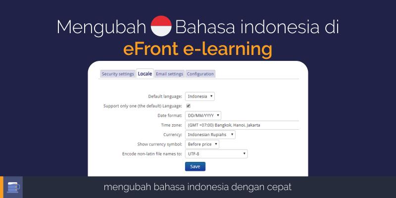 mengubah bahasa indonesia di efront e